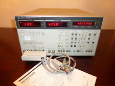 Agilent HP 4192A 5 Hz - 13 MHz  LF Impedance Analyzer w/ 16048C Test Leads CAL'D