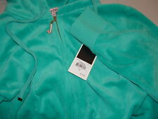 NEW JUICY COUTURE J Bling bermuda sky Velour Hoodie size XL good for L jg00595