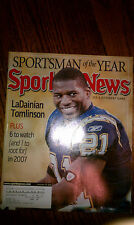 The Sporting News LaDainian Tomlinson San Diego Chargers #21 RB Pro Bowl HOF NFL