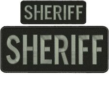 """Sheriff"" embroidery patch  4x10 and 2x5 inches velcro"