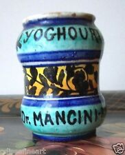 Antique Italian Faience Pottery Apothecary Albarello Yogurt Jar