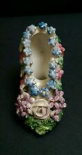 Antique Porcelain Model of a Floral Encrusted Shoe c. 1890