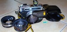 Yashica Electro 35 GSN, 2 obiettive, 1 rango Finder; 1 tele-wide Finder (w0096)