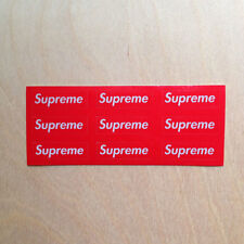 Supreme box logo vinyl sticker 3M reflective red decal mini skateboard 2014
