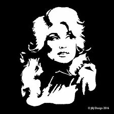 Dolly Parton Country Western Music Car Window Grand Ole Opry Decal Sticker White