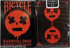 Karnival Dose Redux Red Deck Bicycle Playing Cards Poker Size USPCC Limited Ed.