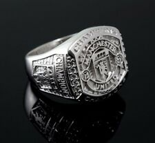 Manchester United Champion Ring,White Gold Plated on Silver, CZ, ring size 8-14
