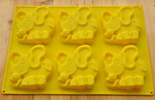 6-Elephant Cake Mold Cookie Mould Flexible Silicone Soap Mold Chocolate Mould