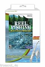 Wii Reel Fishing Angler's Dream Fishing Rod Bundle