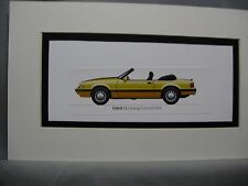 1989  Ford Mustang Convertible   From  50 Year Anniversary Exhibit by artist