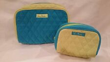 Vera Bradley 2 Make Up/Travel/Carry Cases in Lime Green/Blue