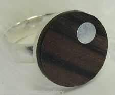 Organic Wood Sterling Silver 0.925 Estate Ring size 7 or O