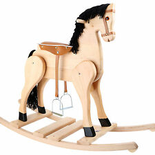 Cavallo a dondolo Legno massello Staffa Selle Animale Gioco bambino in