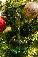 Glassic Gifts Hanging Goethe Weather Ball Barometer Glass Ornament