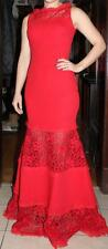 $439  BCBG MaxAzria  Lace  Gown  in Red    SZ   4