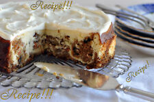 "☆Carrot Cake Cheesecake ""RECIPE""!☆Tastes Like Cheesecake Factory!☆From Scratch!☆"