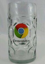 Chrome Chrometoberfest 2011 huge 1 Liter Beer Stein Mug Dimple Glass Oktoberfest