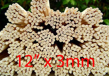 "100 Premium Rattan Reeds Home Fragrance Diffuser Oil Refill Sticks 12"" x 3mm"