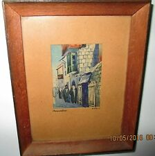JERUSALEM, MINATURE FRAMED PAINTING, UNDER GLASS