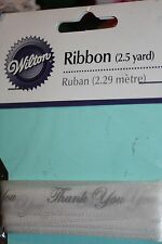 Silver Thank You Wilton Ribbon White Wedding Favors 481