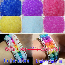 250pcs Solar UV Magic Color Changing Pony Beads For Loom Rubber Bands Bracelet