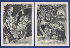 KAPPYSSTAMPS PCC6 VINTAGE LITHOGRAPHS LOWELL & CO BOSTON CHRISTMAS SET/2
