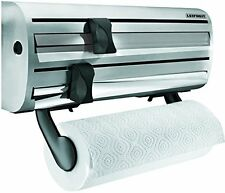 Wall Mounted Kitchen Foil Holder & Cling Film Roll Dispenser Rack Home Leifheit