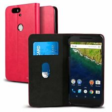 Huawei Nexus 6P Slim Flip Wallet Case Card Slot Stand Folio Magnetic closure New