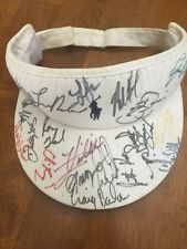 1990'S KEMPER OPEN @ CONGRESSIONAL SIGNED VISOR OVER 20 AUTOGRAPHS