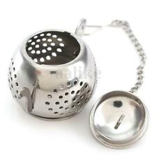 Teapot Shape Stainless Steel Leaf Tea Infuser Filter Strainer Chain Ball Spoon
