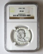 1954 50c Silver Proof Franklin Half Dollar NGC PF65