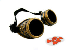 STEAMPUNK ANTIQUE BRASS CYBER GOGGLES WELDING GOTH COSPLAY BECKY LYNCH