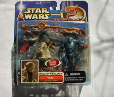 Star Wars Saga AOTC Yoda super battle droid force powers  MIP           1014