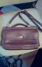 VINTAGE BROWN COACH CITY WILLIS STATION MINI BRIEFCASE BAG 9153-RARE BAG