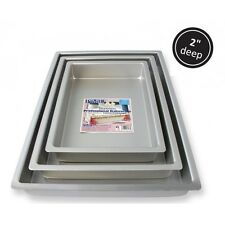 "PME Oblong Rectangle Cake Baking Cooking Food Tin Pan Tray 10 x 15 x 2 "" Inch"