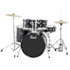 Pearl RS525SCC31 Roadshow Complete 5pc Drum Set w/ Hardware & Cymbals, Jet Black