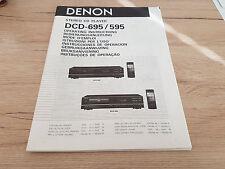 Originale Denon Mode d'emploi DCD-595 DCD-695