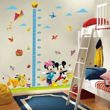 2pcs Mickey Minnie Mouse Height Chart Mural Wall Sticker Decal Kids Child Decor