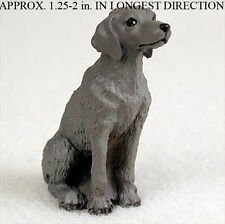 Weimaraner Mini Resin Hand Painted Dog Figurine Statue