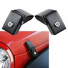Unlimited Steel Locking Hood Lock Catch Latches Pair For Jeep Wrangler JK 07-17