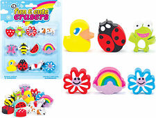 CUTE ANIMAL BUG ERASERS RUBBERS BOY GIRLS BIRTHDAY PARTY BAG FILLERS STATIONARY