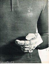 PUBLICITE ADVERTISING 065  1965  LE polo LACOSTE fournisseur de l'équipe FRANCE