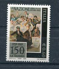 Italia 2009 150°Anniversario quotidiano La Nazione Mnh