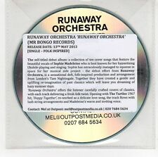 (GG982) Runaway Orchestra, Happy Together / For Lovers - 2013 DJ CD