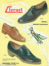 PUBLICITE ADVERTISING 125  1958   CLERGET  chaussures homme