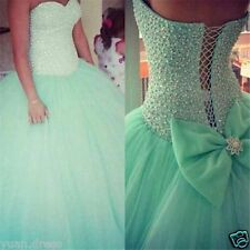 Hot Crystals Quinceanera Dresses Ball Gown For 15 Years Prom Party Dress Cheap