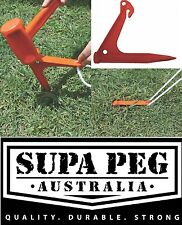 Tent Pegs SUPA PEG GROUND ANCHOR Poly Polypropylene Heavy Duty ORANGE Price Each