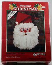 AUNT LYDIA''S WonderArt Christmas Santa Claus Art. #K131 1991 VINTAGE YARN XMAS
