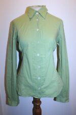 Dolce Gabbana Top L Green Lime Pleated Front Italian Career Button Down Blouse