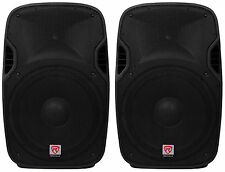 "(2) Rockville SPGN158 15"" Passive 1600W DJ PA Speakers Lightweight Cabinet 8 Ohm"